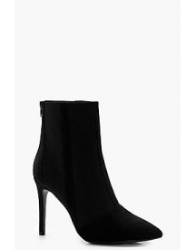 Frances Knitted Pointed Toe Shoe Boot afbeelding