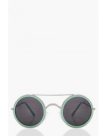 Freya Coloured Frame Round Sunglasses afbeelding