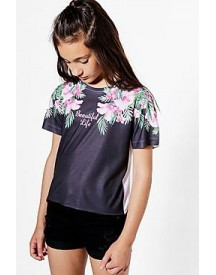 Girls Palm Beautiful Cropped Tee afbeelding