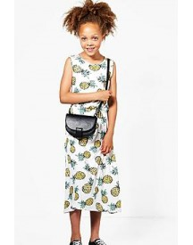 Girls Pineapple Print Maxi Dress afbeelding