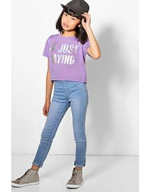 Girls Pull On Denim Jeggings afbeelding