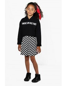 Girls Striped Skater Skirt afbeelding