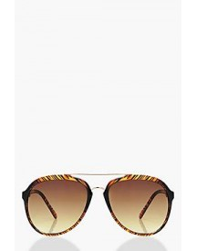 Gracie Textured Frame Aviator Sunglasses afbeelding