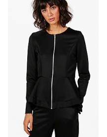 Gracie Zip Up Peplum Jacket afbeelding
