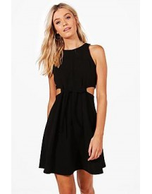 Hanna Cut Out Tie Detail Skater Dress afbeelding