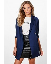 Harriet Woven Tailored Longline Blazer afbeelding