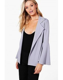 Heather Oversized Flare Sleeve Blazer afbeelding
