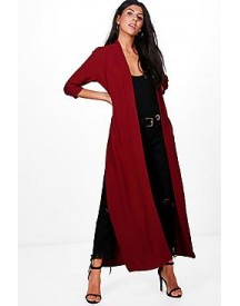 Hollie Maxi Side Split Woven Duster afbeelding
