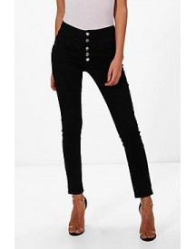 Holly 5 Button Ultra High Waist Skinny Jeans afbeelding