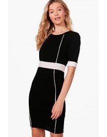 Jasmine Panel Detail Midi Dress afbeelding