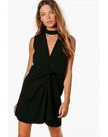 Jemima Chocker Knot Front Shift Dress afbeelding