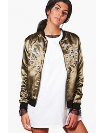 Jessica Bird Embroidered Bomber Jacket afbeelding