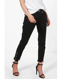 Jessie High Rise D-ring Detail Skinny Jeans afbeelding