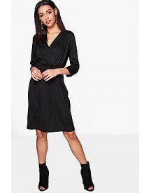 Joanna Premium Wrap Over Tailored Dress afbeelding