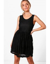 Jodie Lace Skater Dress afbeelding