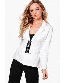 Kareena Corset Belt Tailored Blazer afbeelding