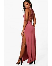 Kat Strappy Back Slinky Maxi Dress afbeelding