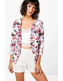 Kate Pastel Floral Print Tailored Blazer afbeelding