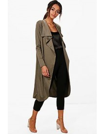 Kate Ponte Wrap Front Duster Jacket afbeelding