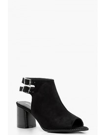 Katie Double Buckle Peeptoe Shoeboot afbeelding