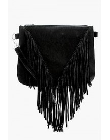 Kelly Suedette Fringed Cross Body afbeelding