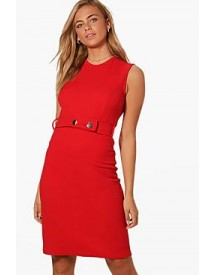 Kerry Belted Fitted Midi Dress afbeelding