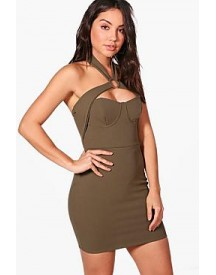 Kia Strappy Detail Bodycon Dress afbeelding