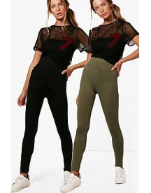 Larah 2 Pack Basic High Waist Leggings afbeelding