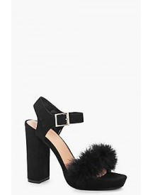 Laura Feather Trim Platform Heels afbeelding