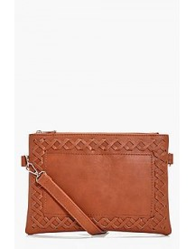 Laura Whipstitch And Tassel Cross Body Bag afbeelding