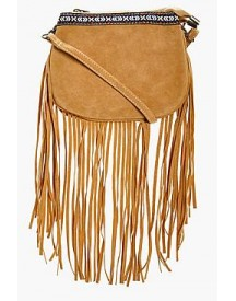 Lianne Aztec Trim Fringe Cross Body afbeelding