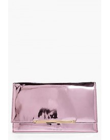 Libby Metal Bar Mirror Clutch afbeelding