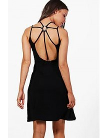 Lilly Hexagon Strap Detail Swing Dress afbeelding