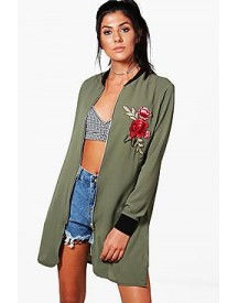 Lisa Longline Embroidered Bomber afbeelding