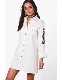 Lizzie Premium Embroidered Shirt Dress afbeelding