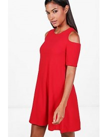 Lizzy Cold Shoulder Swing Dress afbeelding