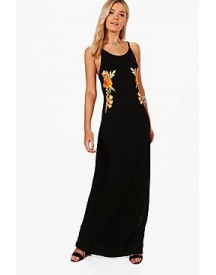 Louise Halterneck Embroidered Maxi Dress afbeelding