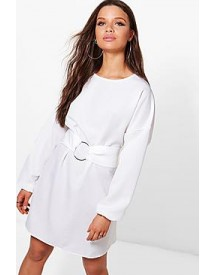Lucie O Ring Belt Woven Shift Dress afbeelding