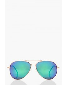 Lucy Blue Lens Aviator Sunglasses afbeelding