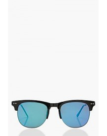 Lucy Blue Mirrored Lens Sunglasses afbeelding