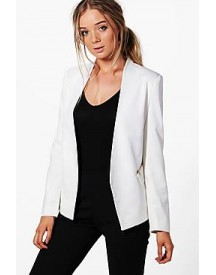 Maddison Lined Zip Detail Tailored Blazer afbeelding