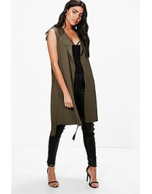 Maddison Sleeveless Belted Duster afbeelding