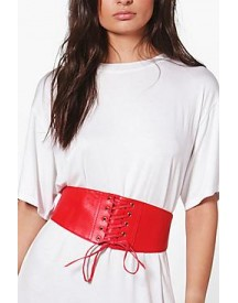 Maisie Pu Lace Up Corset Belt afbeelding