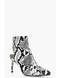 Maisy Snake Print Open Back Pointed Shoe Boot afbeelding