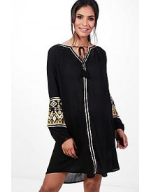 Maternity Rosaleen Boutique Embroidered Smock Dress afbeelding