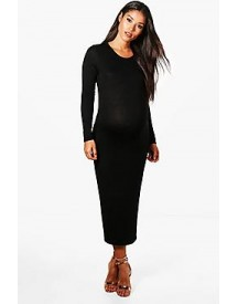 Maternity Sara Long Sleeve Midi Dress afbeelding