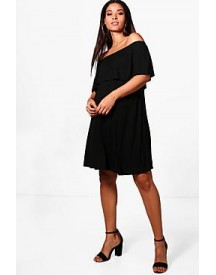Maternity Sarah Pixie Off The Shoulder Dress afbeelding