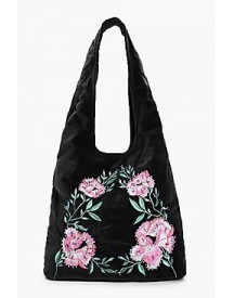 Matilda Velvet Embroidered Hobo Bag afbeelding