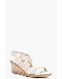 Megan Cross Strap Espadrille Wedge afbeelding