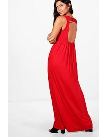 Megan Plunge Front Open Back Maxi Dress afbeelding